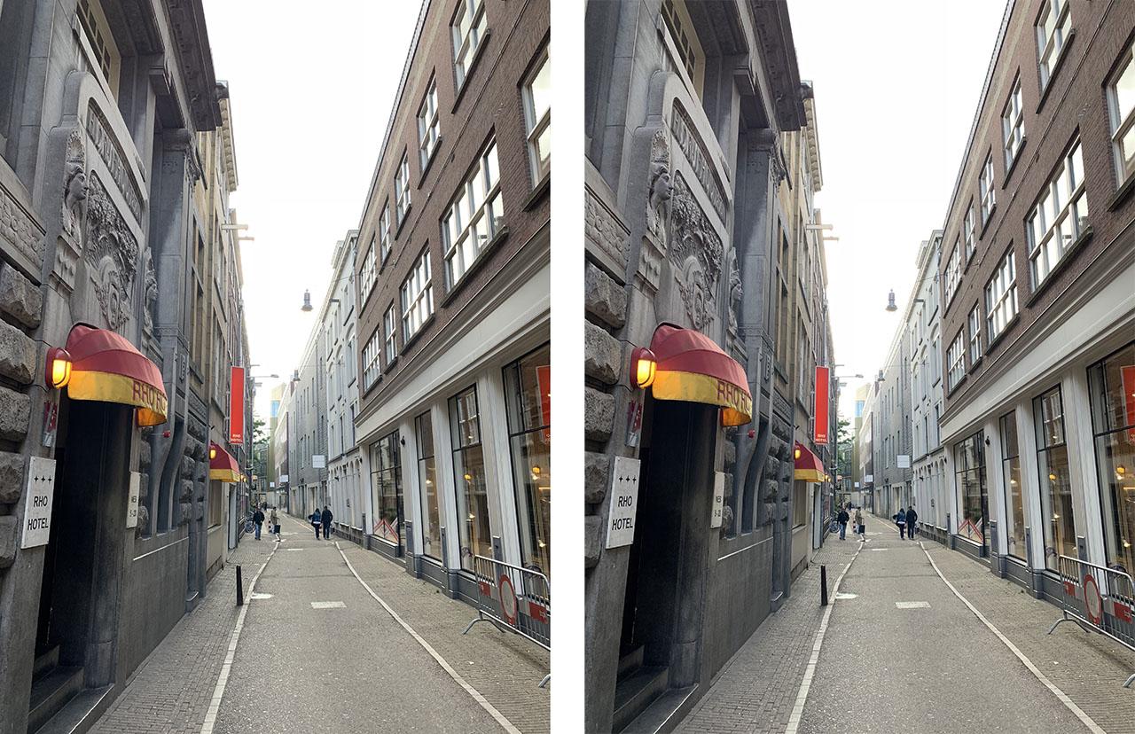 Straatje, foto gemaakt met iPhone XS Max