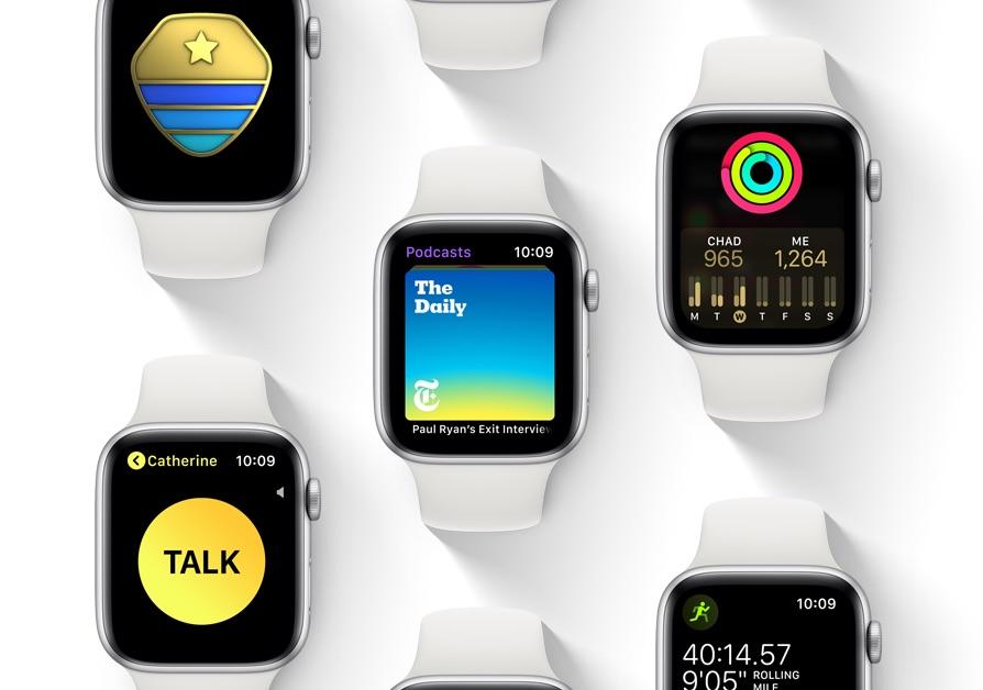 watchOS 5 op de Apple Watch.