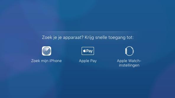 Apple Pay-knop op iCloud.com.