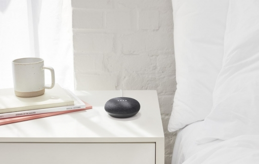 Google Home Mini slaapkamer-grijs