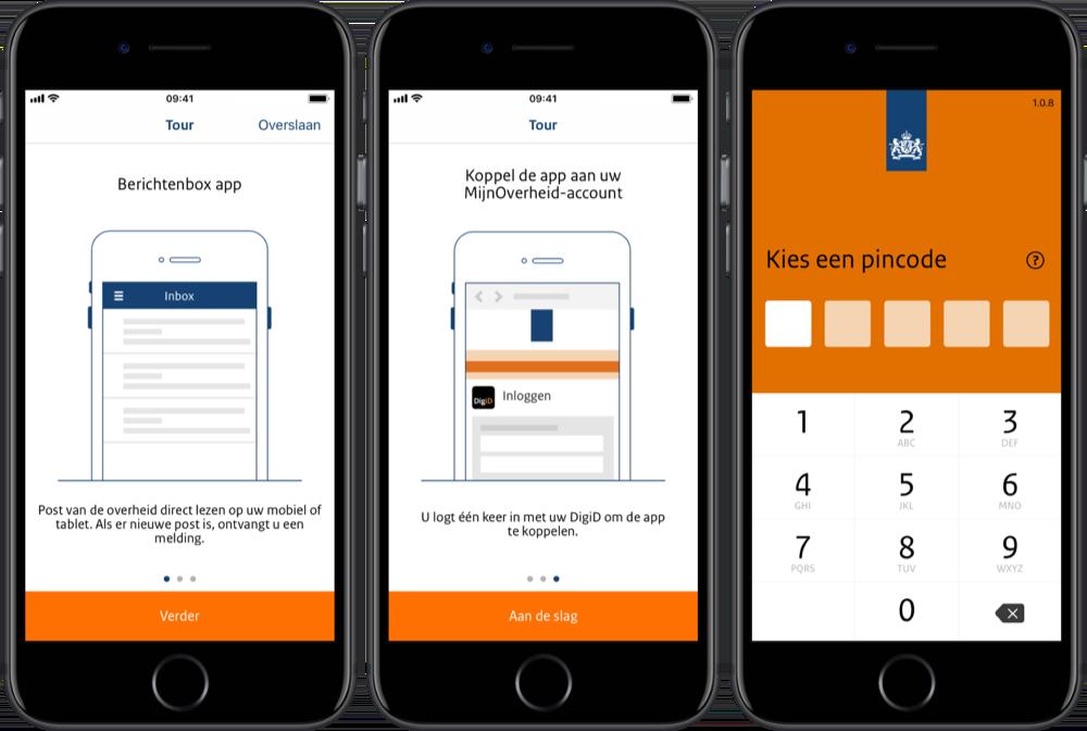 Berichtenbox-app voor post van Mijn Overheid.