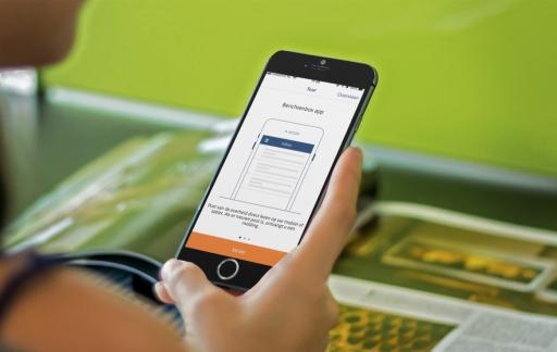 Berichtenbox-app gebruiken op iPhone.
