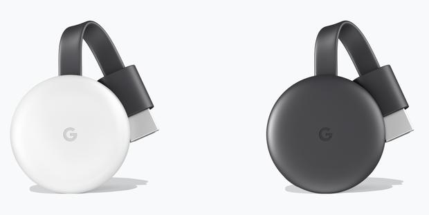 Chromecast 2018 in wit en zwart