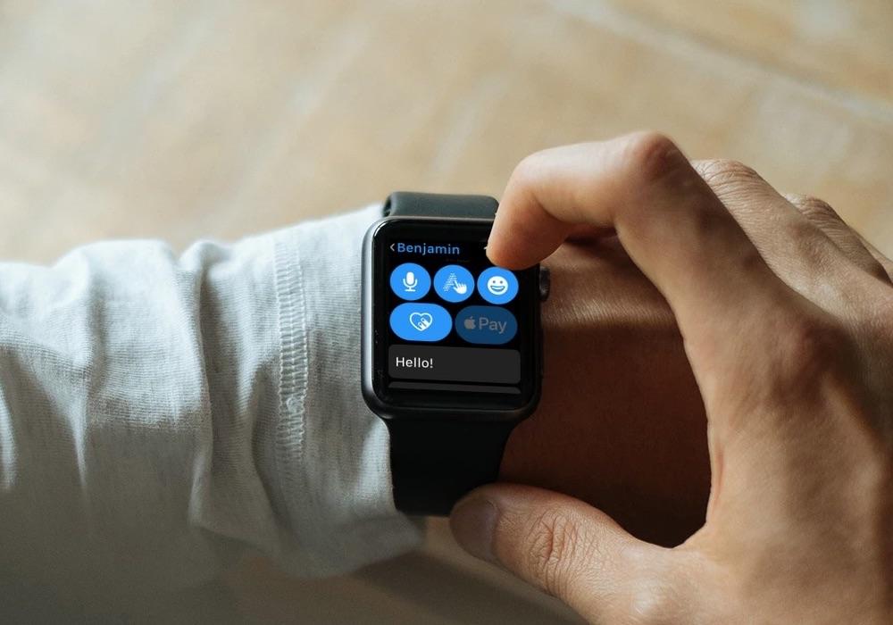 Scribble-knop op Apple Watch.
