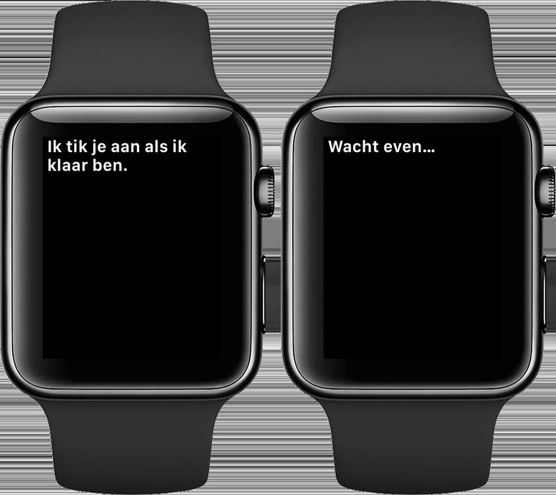 Apple Watch wachten en aantikken