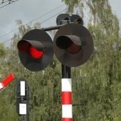 Spoorwegovergang.
