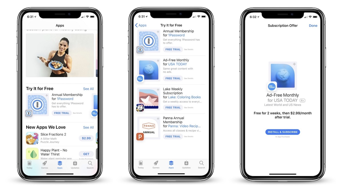 App-abonnementen