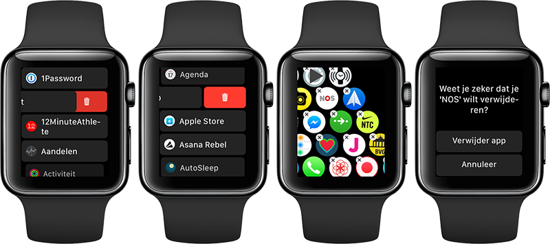 Apple Watch apps verwijderen