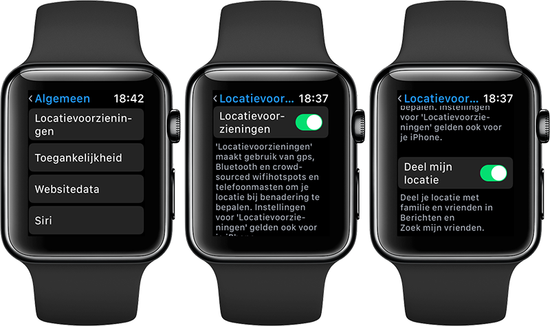 Apple Watch locatievoorzieningen