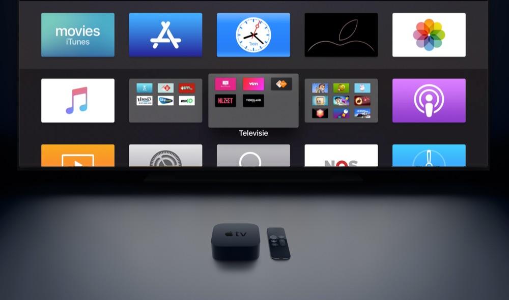 Apple TV-apps in mappen.