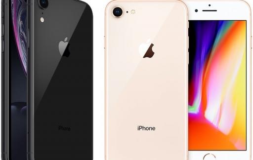 iPhone XR en iPhone 8
