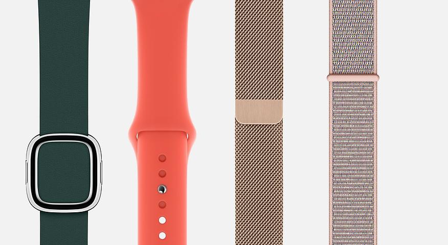 Apple Watch bandjes in 2018.