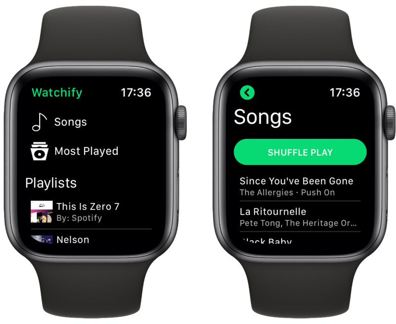 Watchify brengt Spotify naar Apple Watch.