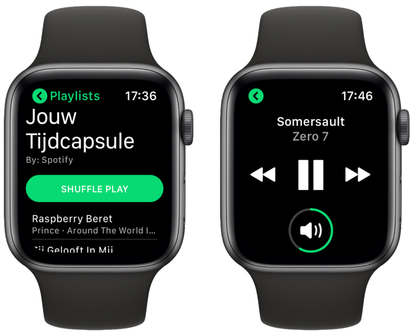 Spotify afspelen via Watchify.