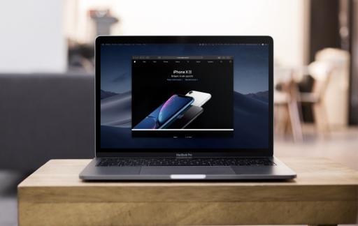 macOS Mojave donkere modus met Safari.