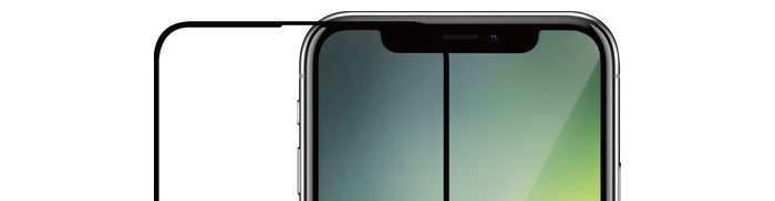 Azuri screenprotector voor iPhone XR