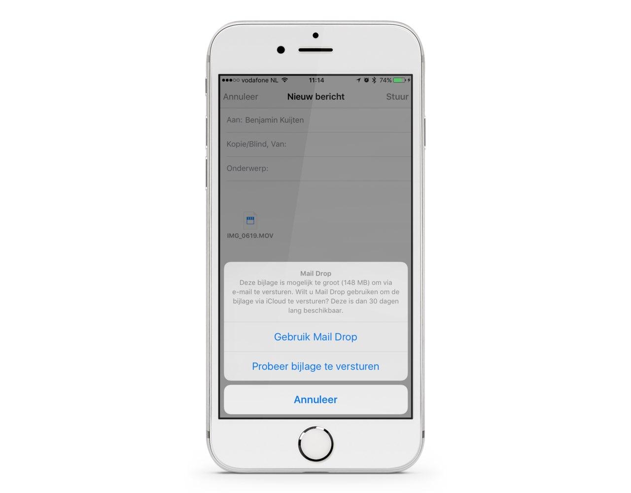 iPhone Mail Drop