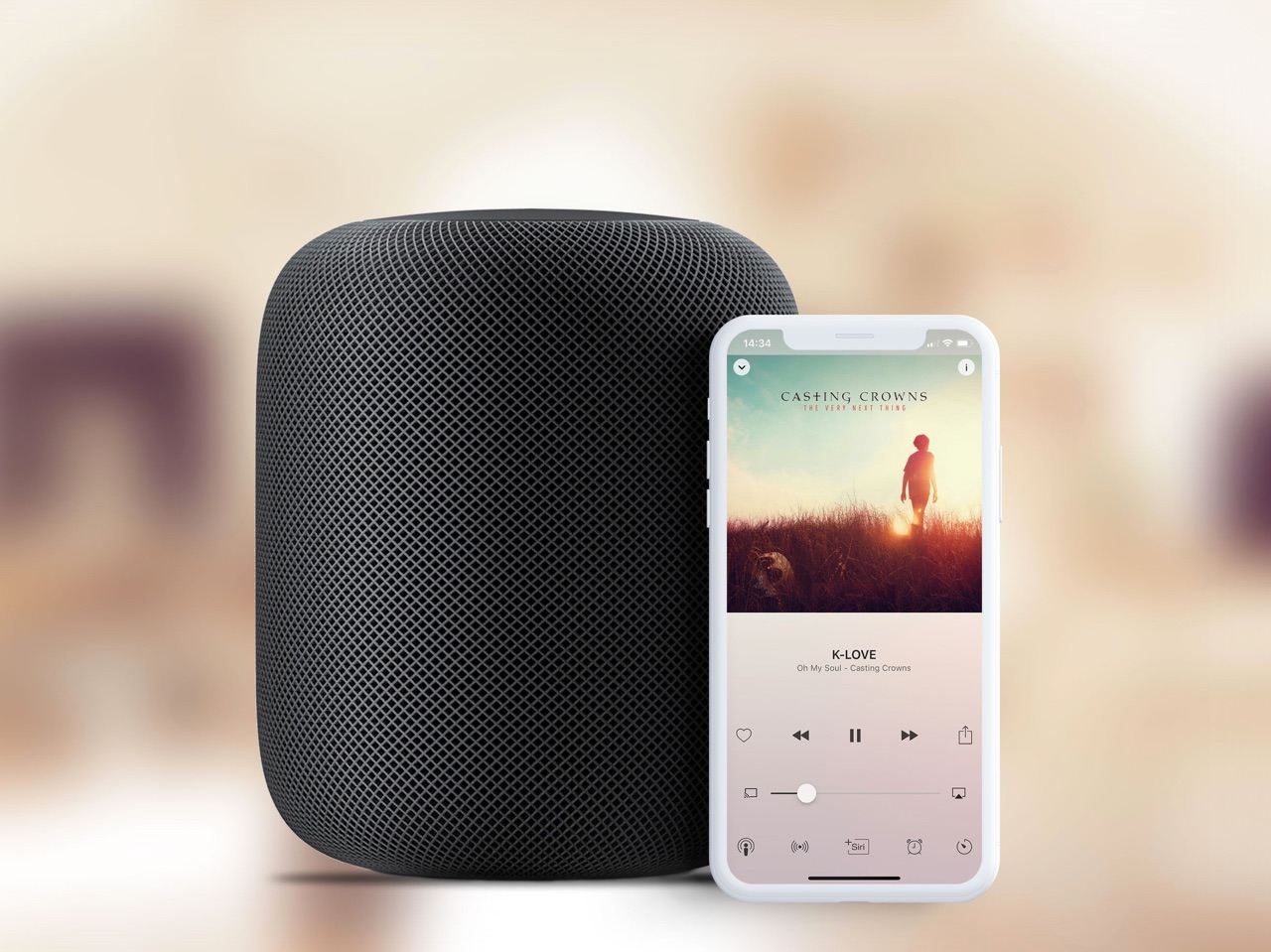 Receiver Radio op HomePod.