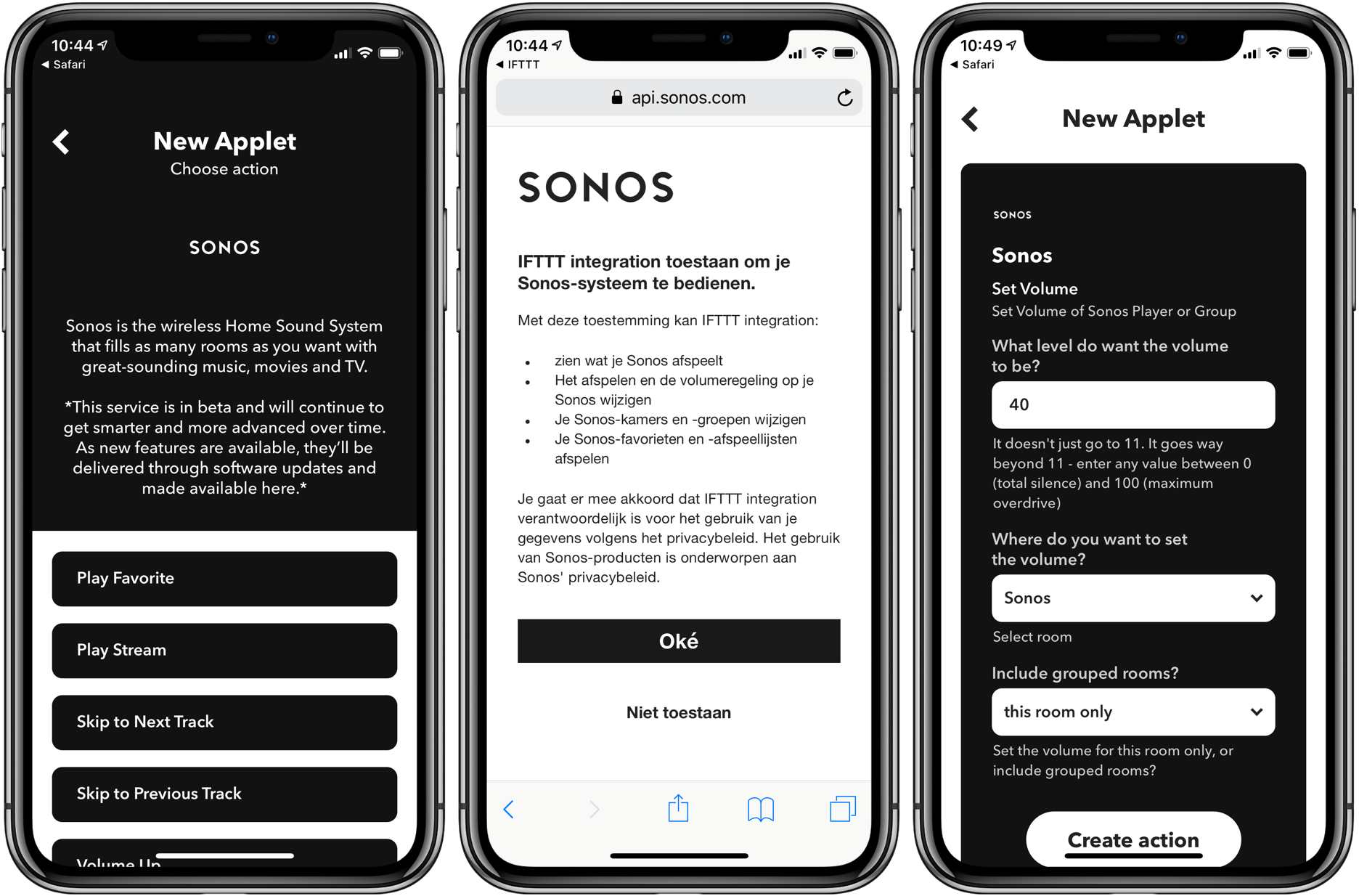 Siri Shortcuts: Sonos