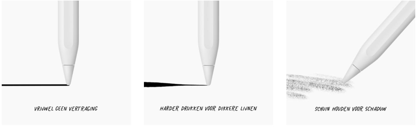Apple Pencil 2 tekenen