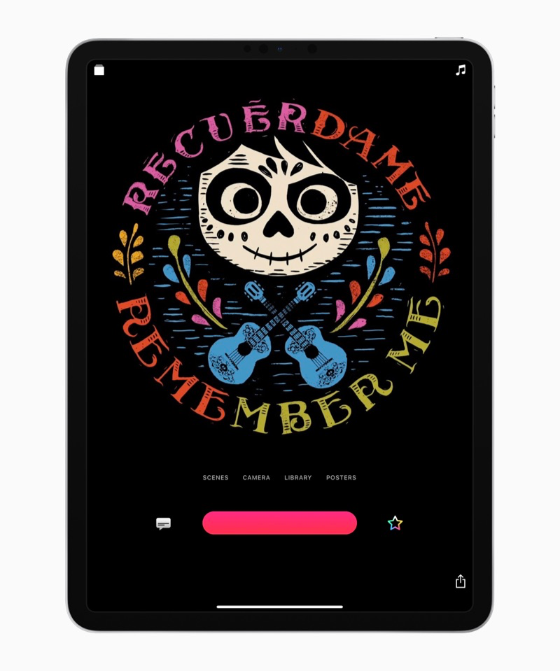 Clips-app met poster van Coco.
