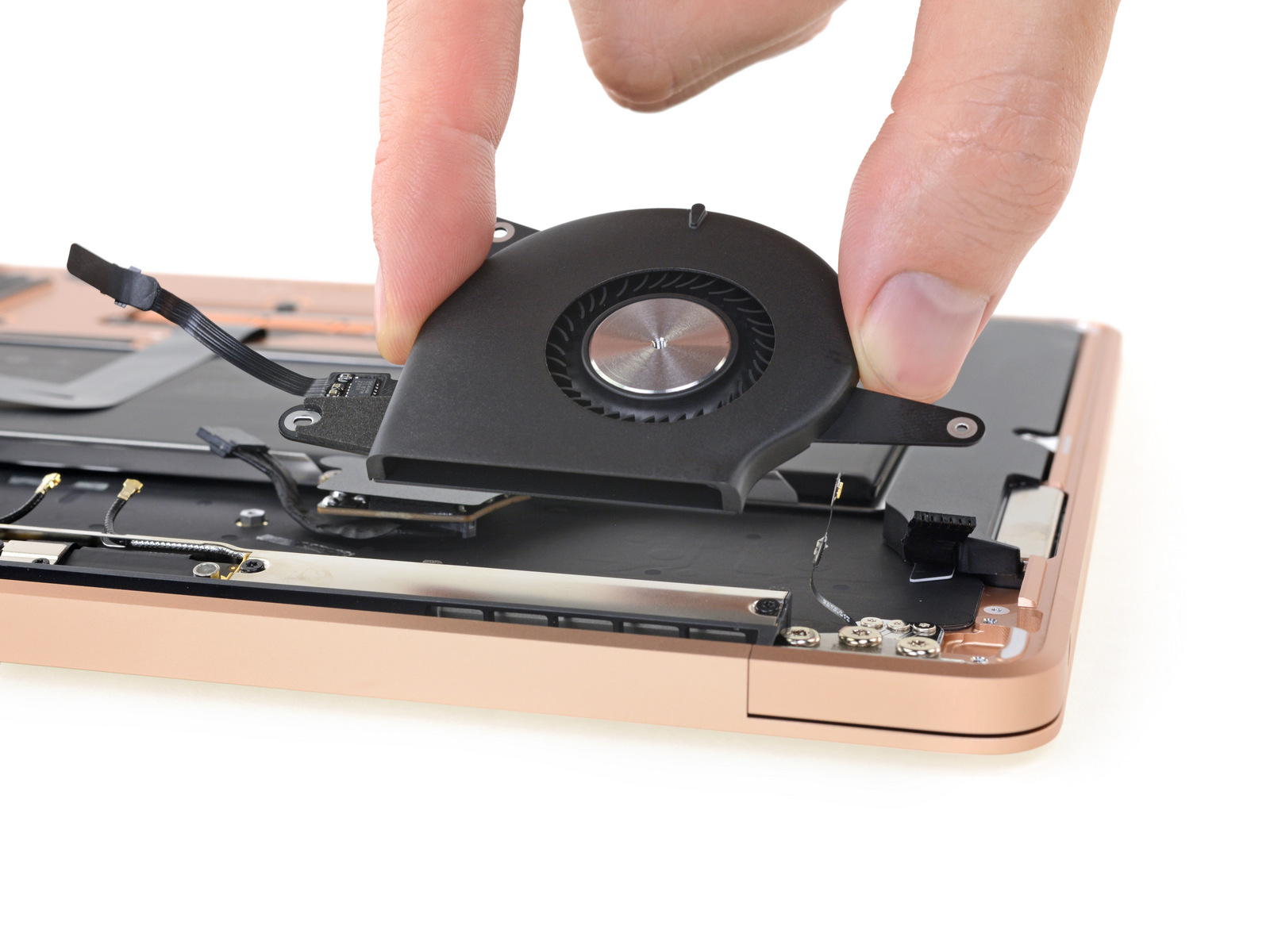 Speaker in MacBook Air 2018 teardown van iFixit.