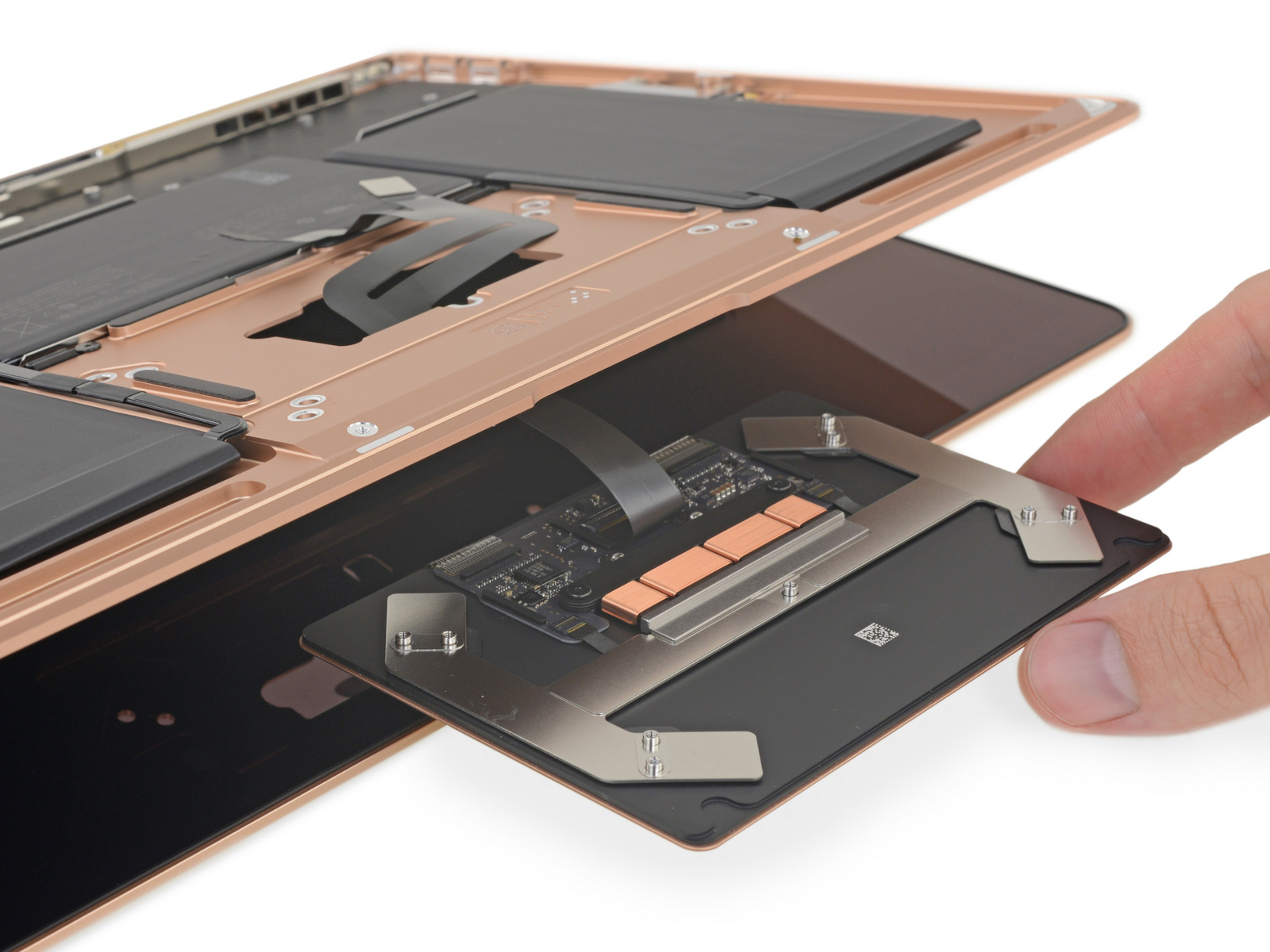 Trackpad in MacBook Air 2018 teardown van iFixit.