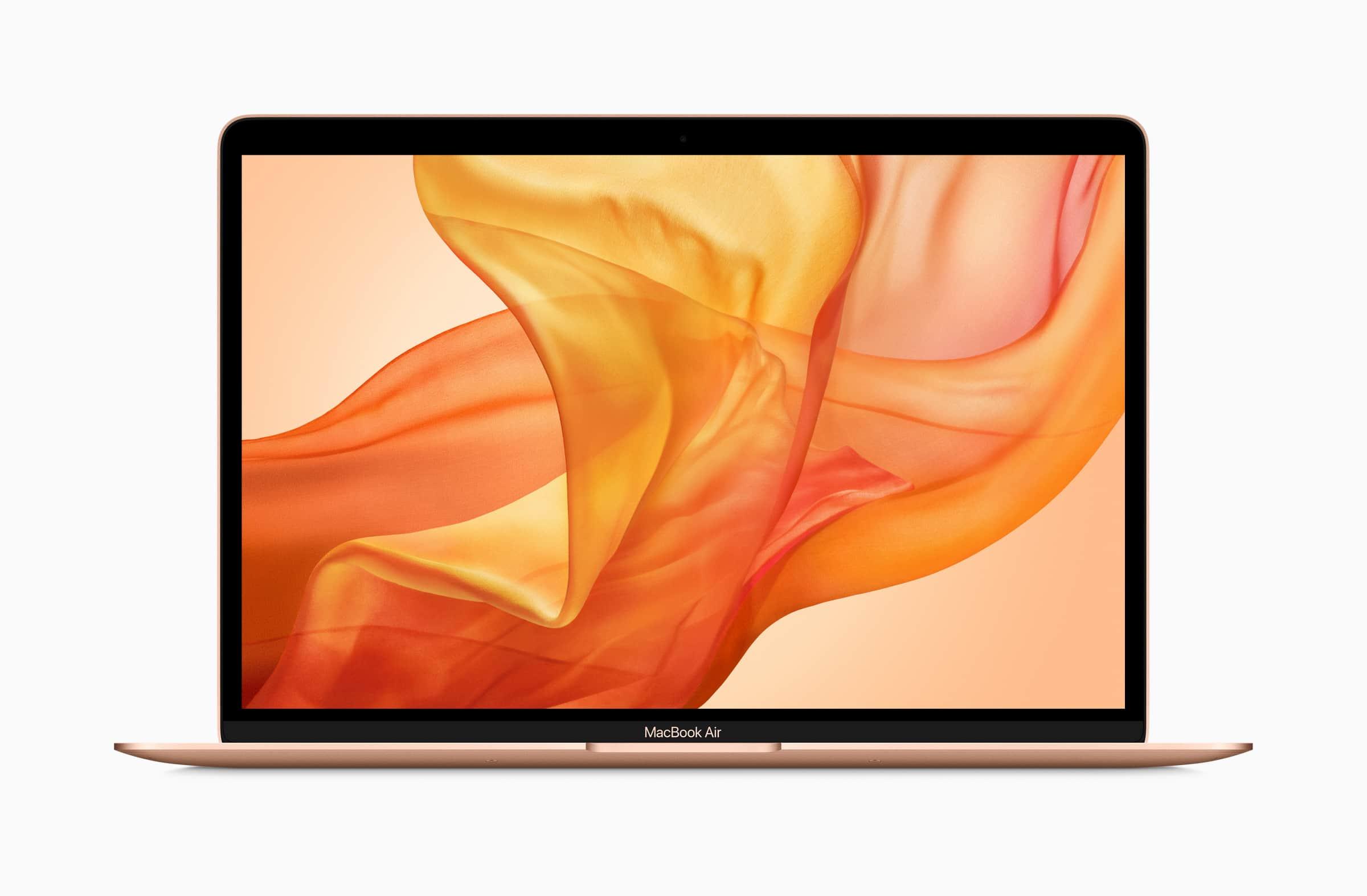 MacBook Air in goud