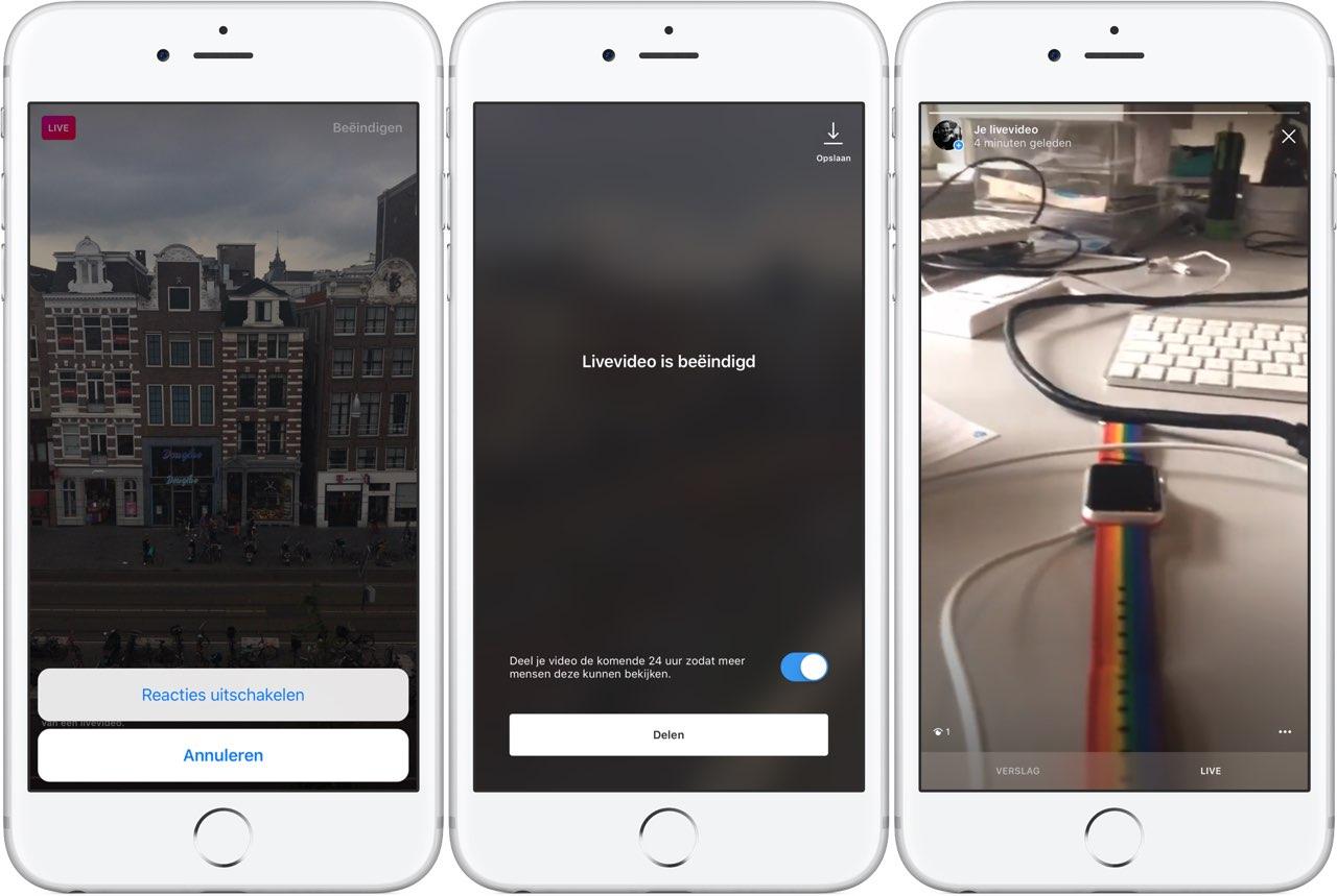 Instagram Live Stories: contact met kijkers