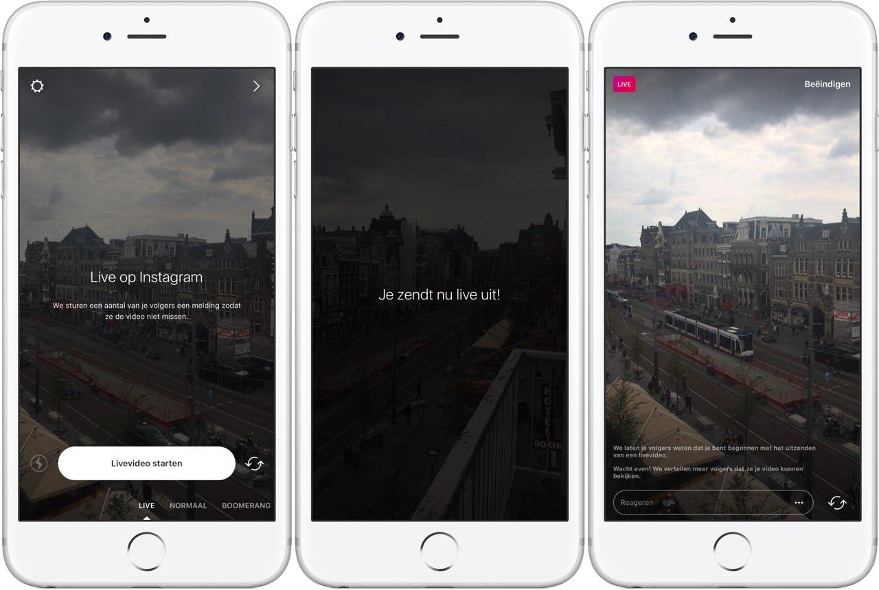 Instagram Live Stories: een live-uitzending starten