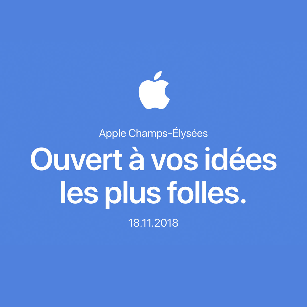 Apple Champs Elysees opening