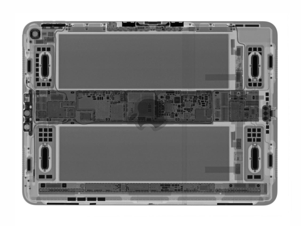 iPad Pro 2018 teardown van iFixit met röntgen.