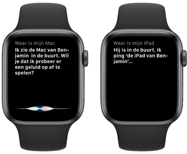 Zoek Mac via Siri op Apple Watch.