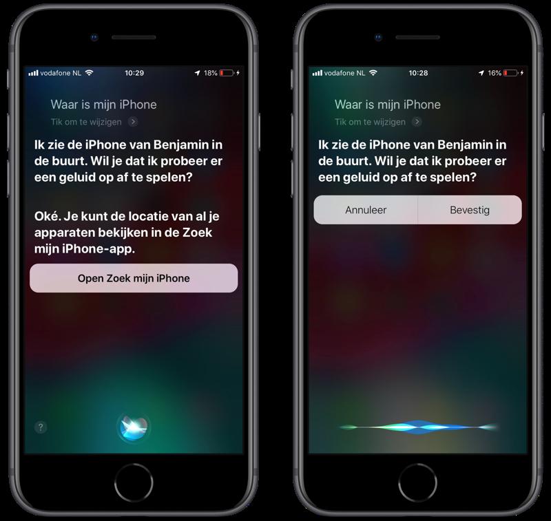 iPhone zoeken met Siri.