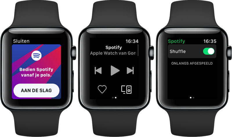 Spotify op Apple Watch.