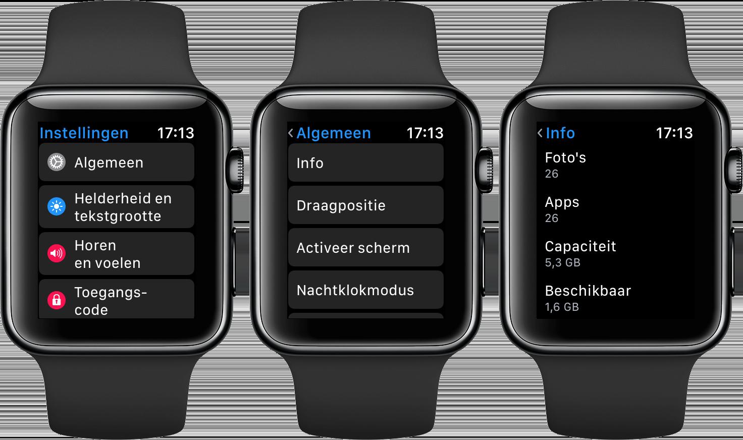 Apple Watch opslag en gebruik