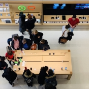 Apple Store Champs-Élysées bovenaanzicht
