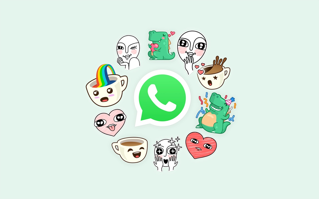 Stickers bij WhatsApp.