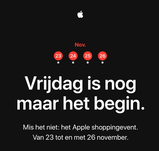Apple Shopping Event voor Black Friday uitnodiging.