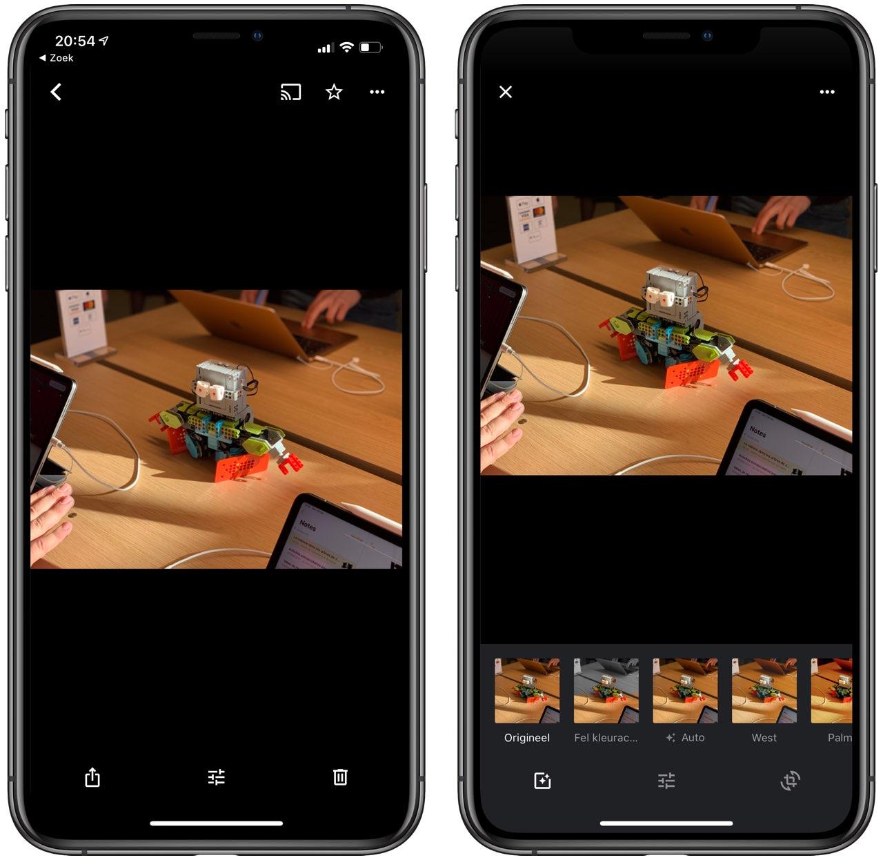 Google Foto's scherptediepte aanpassen