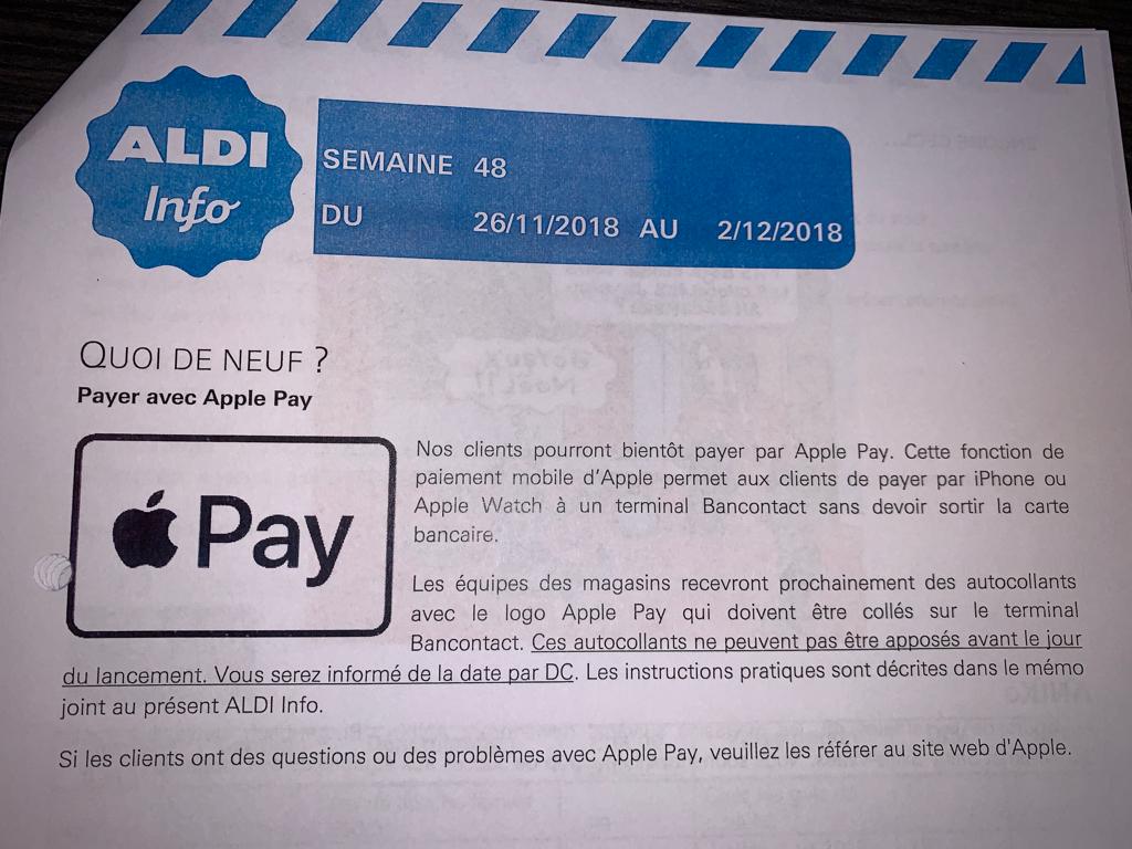 Brief Apple Pay in België.