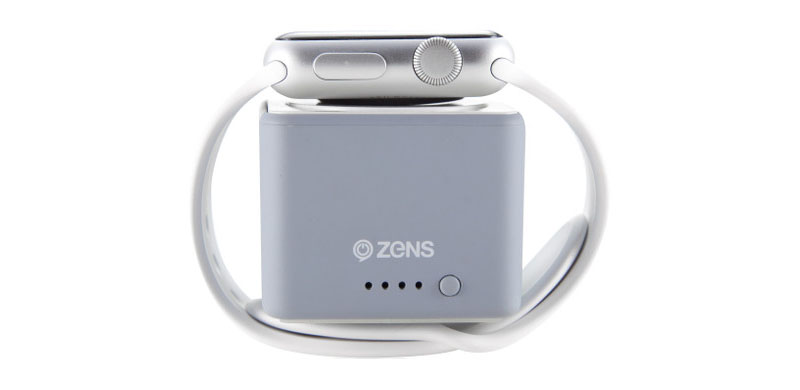 Zens Apple Watch Powerbank grijs