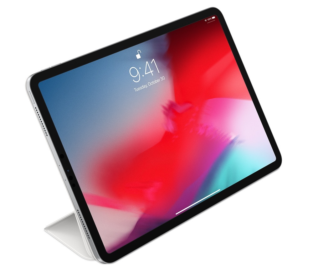 iPad Pro rechtop met Smart Folio.
