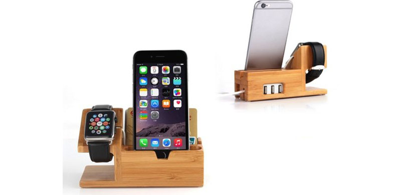 Houten Apple Watch-dock