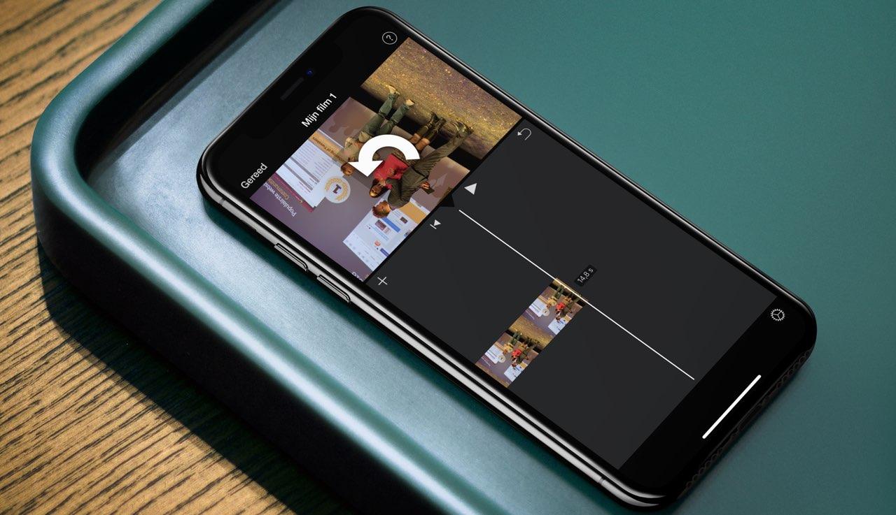 iMovie video roteren