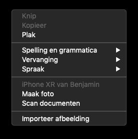 Foto maken in iMessage op de Mac.