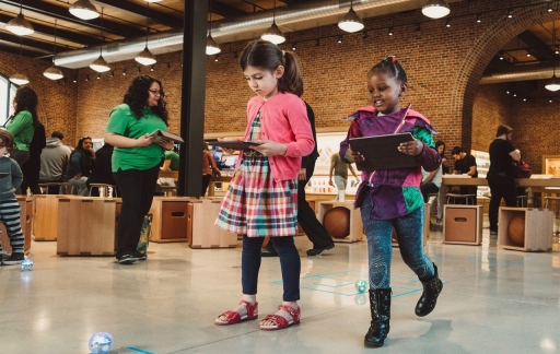 Hour of Code-sessies in Apple Store in 2018.