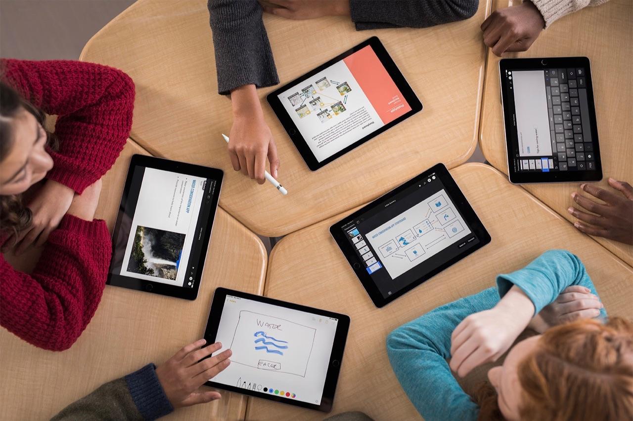 Leren programmeren op een iPad.