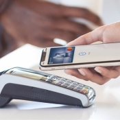 Betaalterminal voor Apple Pay.