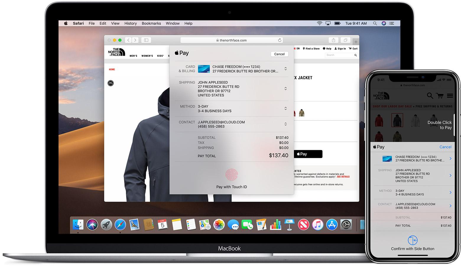 Apple Pay op het web gebruiken.